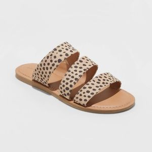 NWT Leopard Slide Sandals